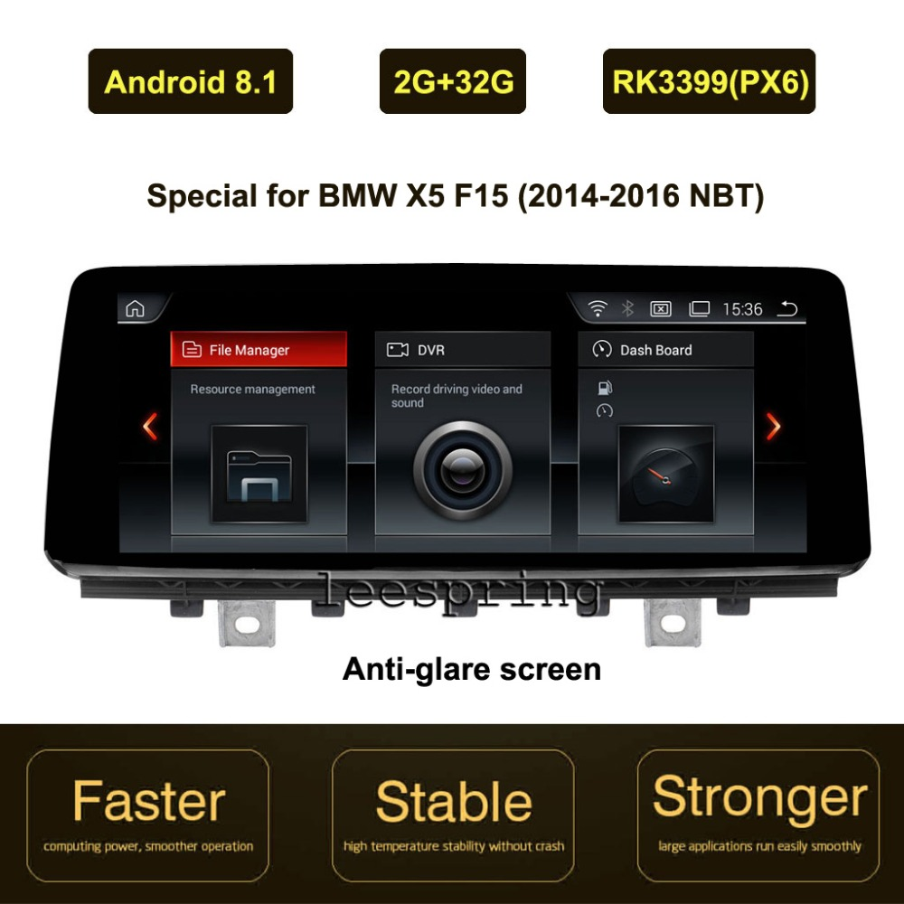 10 25 inch IPS Screen Android 8 1 Car GPS Navigation for BMW X5 F15 2014