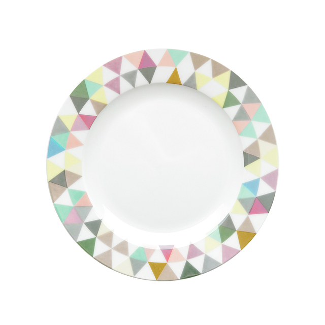 1 PZ Da Tavola In Ceramica Piatto Colorato Geometria Cena Piatti ...