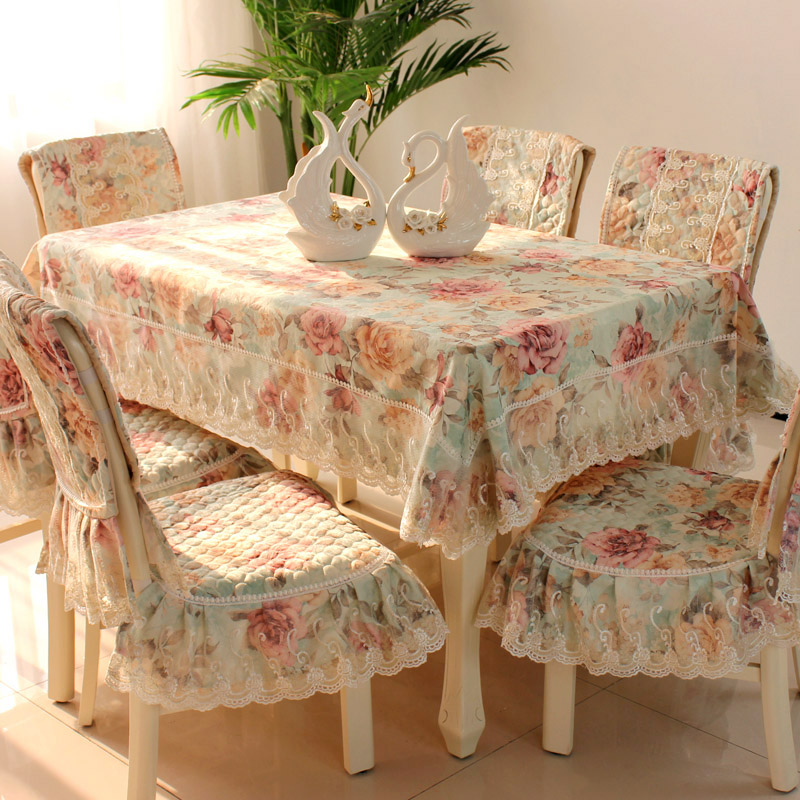 Luxurious lace cloth cloth Tablecloth European garden art flower table cloth cushion cov ...