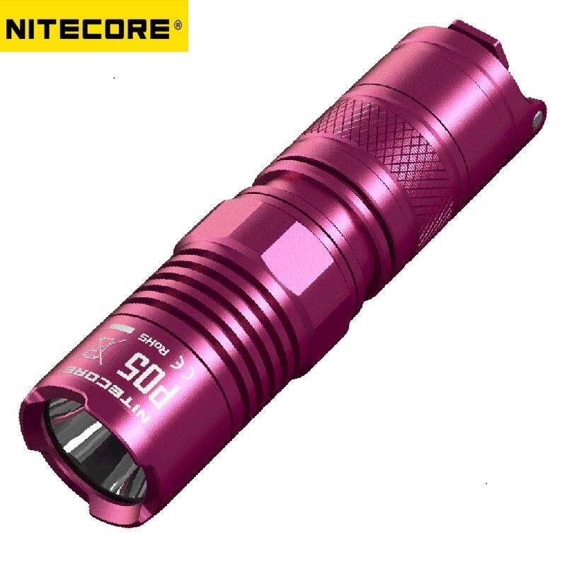 NITECORE P05 CREE XM-L2 U2 460 lumens White LED Light Gear Law Enforcement Military Hand Lamp Flashlight W/CR123 Battery -PINK