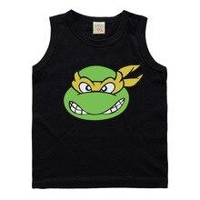 Hot New Summer Boys Vest Cartoon Turtle Boys Tank Kids Shirts Garcons Gifts 5 Colors Top Menina Hemdjes Meisje Zomerkleding