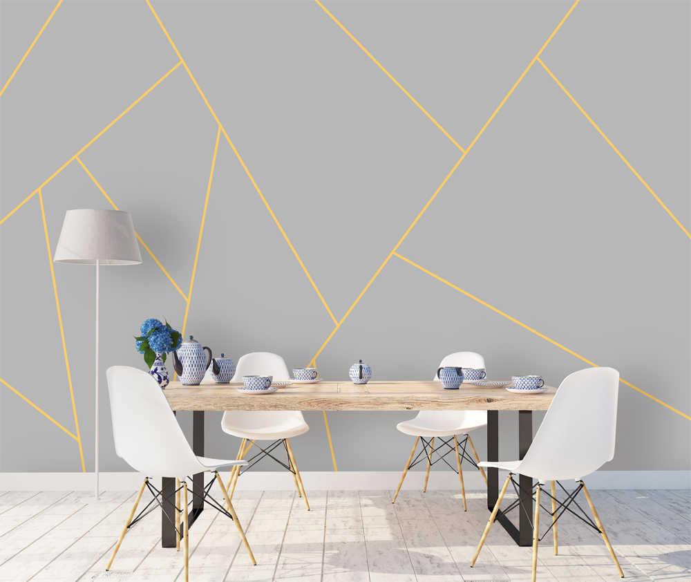Bacaz Custom Concrete Geometric Wallpaper Wall Sticker For Living Room Background Decor Print Mural