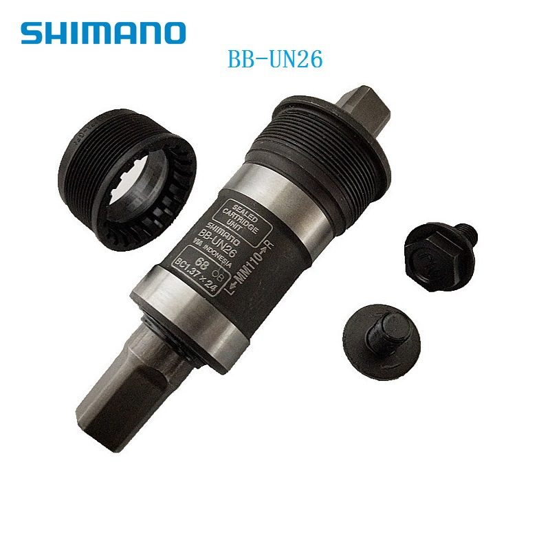Bicycle Bottom Brackets Shimano BB UN26 Square Hole Axis Seal Bearing 117.5mm 123mm 113mm 110mm For 68mm Frame Hole Bike Parts