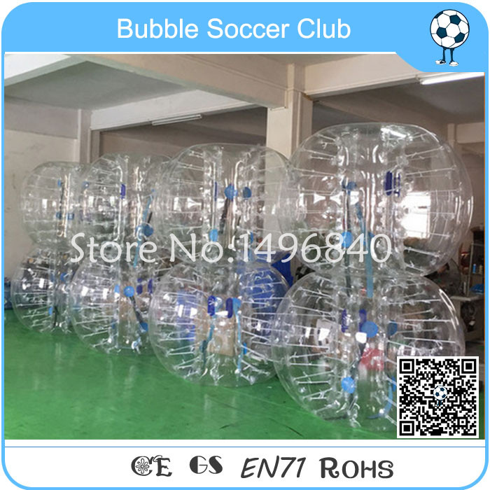 Free Shipping 8 pieces (4red+4blue ) 2018 Hot Sale Bubble Soccer Ball Inflatable Air Bumper Football Zorb Ball Human Body Bubble free shipping 1 2m for kids bubble soccer inflatable bumper ball bubble football bubble ball soccer zorb ball loopy ball