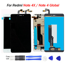 For Xiaomi Redmi Note 4X LCD display Note 4 Global CPU:Snapdragon 625 touch screen digitizer assembly Frame with Free Tools AAA