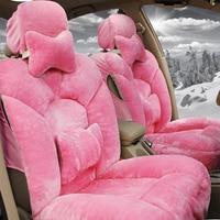 Auto automobiles Plush car seat cover For Volkswagen vw passat b5 b6 b7 polo 4 5 6 7 golf tiguan car automobiles accessories