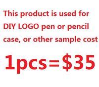 4Y4A 1pcs DIY LOGO PEN Or Pencil Case Sample Cost