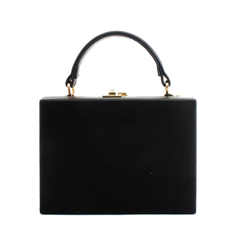 Fashion PU Leather Box Bag Vintage handbag Crossbody Shoulder Bag OL Evening Party Bags Flap for Women 2019 in Wallets from Luggage Bags