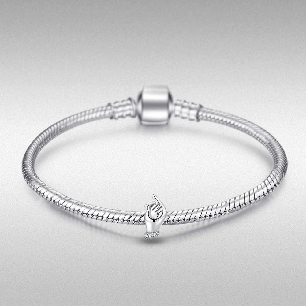 JewelryPalace ידי משפחת 925 סטרלינג כסף חרוזים קסמי כסף 925 מקורי עבור צמיד כסף 925 מקורי תכשיטי ביצוע