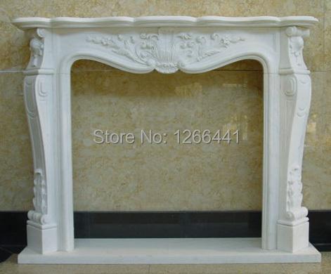 tallado chimenea de piedra chimenea de mrmol marco de de gas o elctrico de insercin