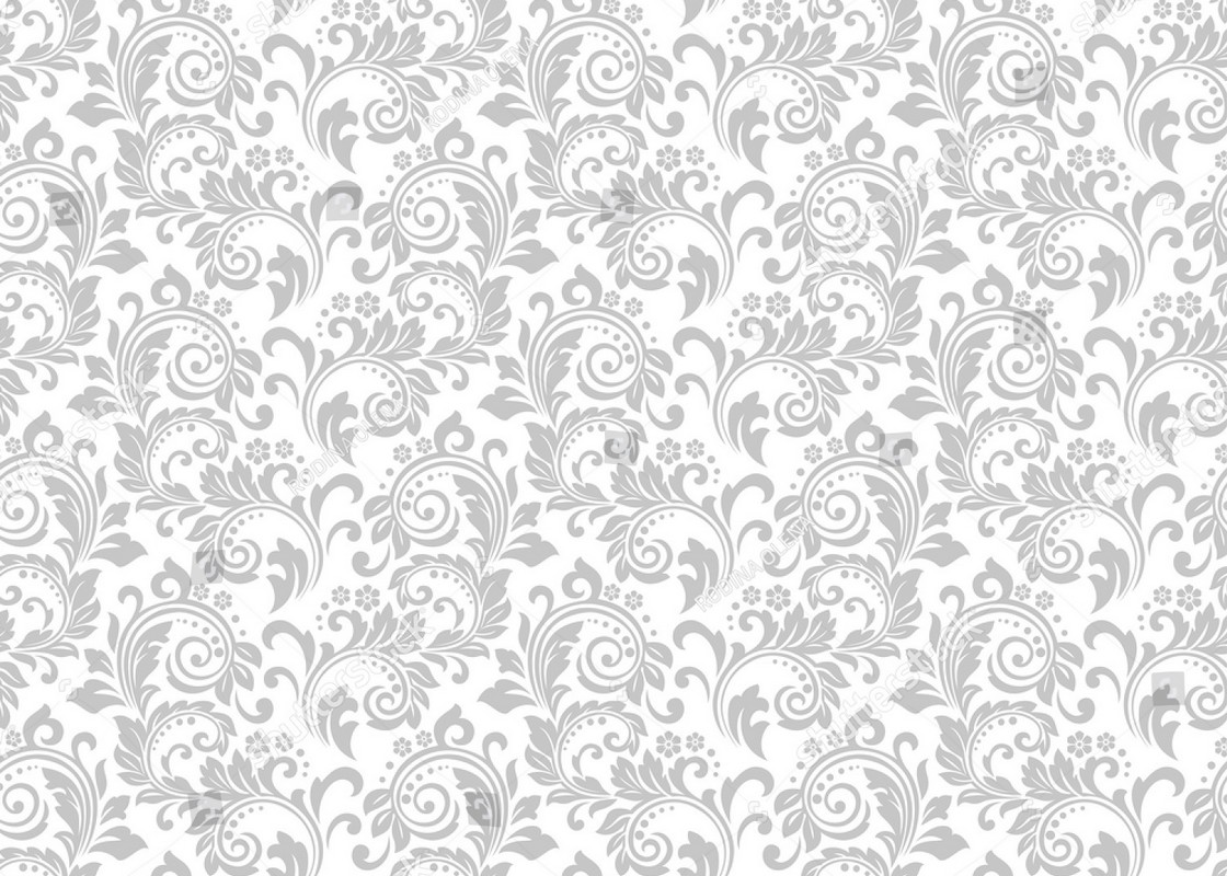 Grey And White Pattern White Damask Gray Grey Floral Pattern Background Vinyl