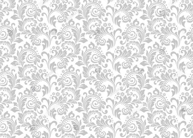 white damask gray grey floral pattern background vinyl