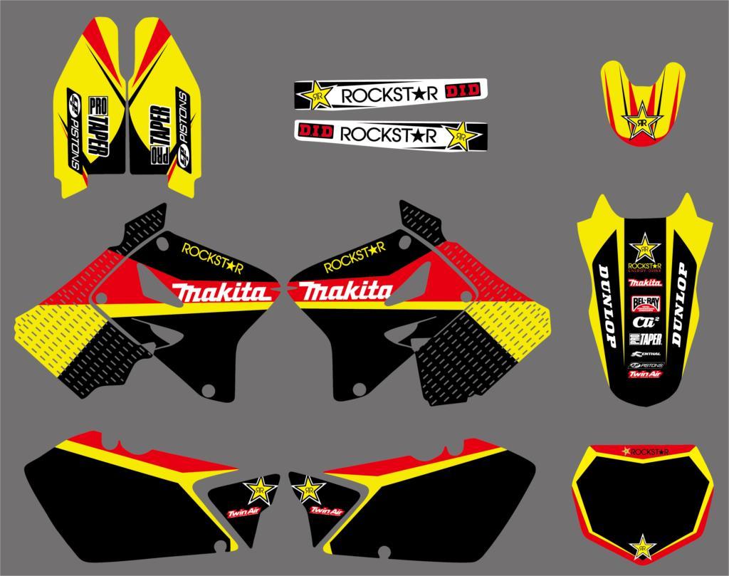 NICECNC команда фон Графический Стикеры Fender вилки наклейки для Suzuki RM 125 250 RM125 RM250 2001-2007 2008 2009 2010 2011 2012