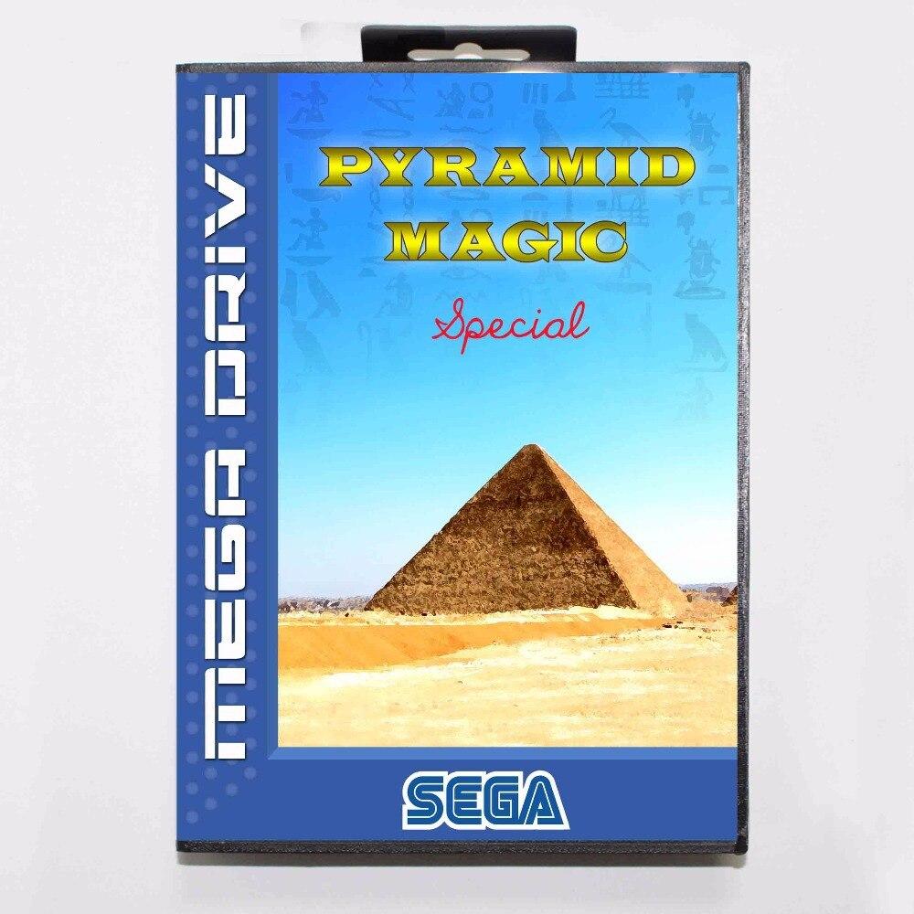 d8d35db9213 Pyramid Magic Special 16 bit MD Game Card With Retail Box For Sega  Megadrive/Genesis