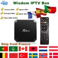 X96 mini Smart TV Box 1 Year IPTV Subscription France German Arabic Dutch Poland Portugal Spain IPTV M3U android set top box