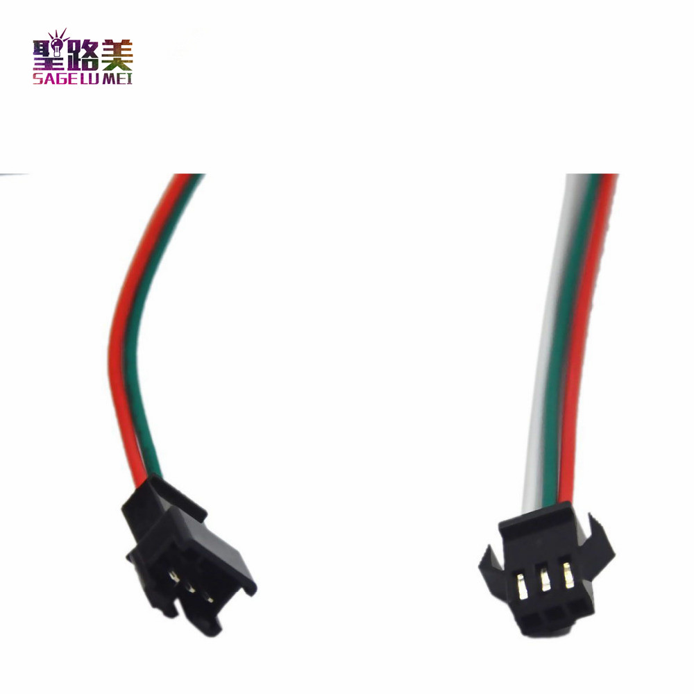 50-Pair-3pin-JST-Connector-Male-Female-Cable-Wire-for-2WS2811-WS2812B-RGB-LED-Strip-Free