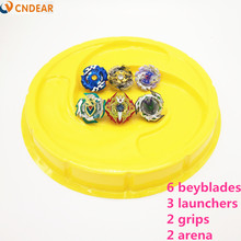 Beyblade Burst Toys yellow Arena With Launcher Starter Bayblade Metal Fusion God Spinning Top Bey Blade Blades boy's Toy F(China)