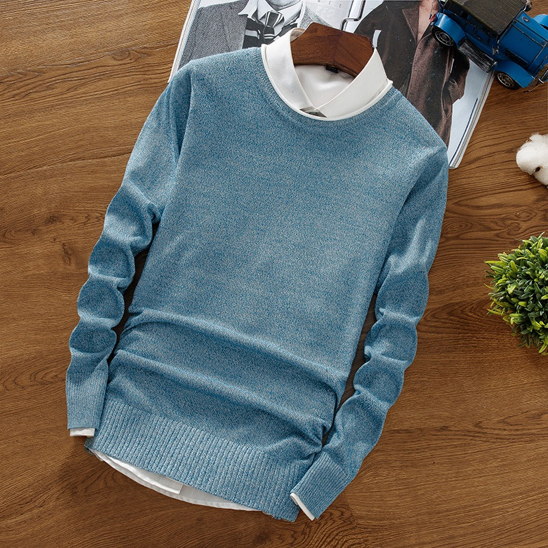 New Handsome Cashmere Sweater Men Long Sleeve Slim Fit Round Neck Mens Christmas Sweaters And Pullover Men