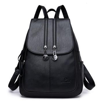 De alta calidad de las mujeres Mochila De Cuero bolsas de cuero Real de la moda de lujo Mochila De Cuero genuino de las mujeres bolsas de la escuela