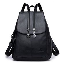 цена на High Quality Women Backpack Leather Bags Real Leather Backpack Fashion Luxury Backpack Women Genuine Leather School Bags