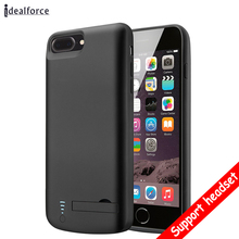 Support Audio External 8000mAh Power bank Pack backup battery Charger Case For iPhone 7 8 Plus Cover Charging Music 2in1