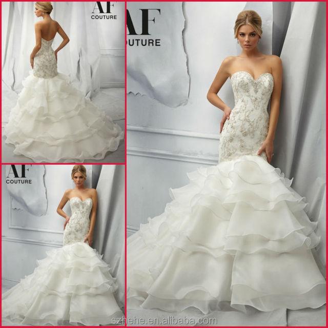JM.Bridals CW2629 beaded Fabulous lace mermaid wedding dress ...