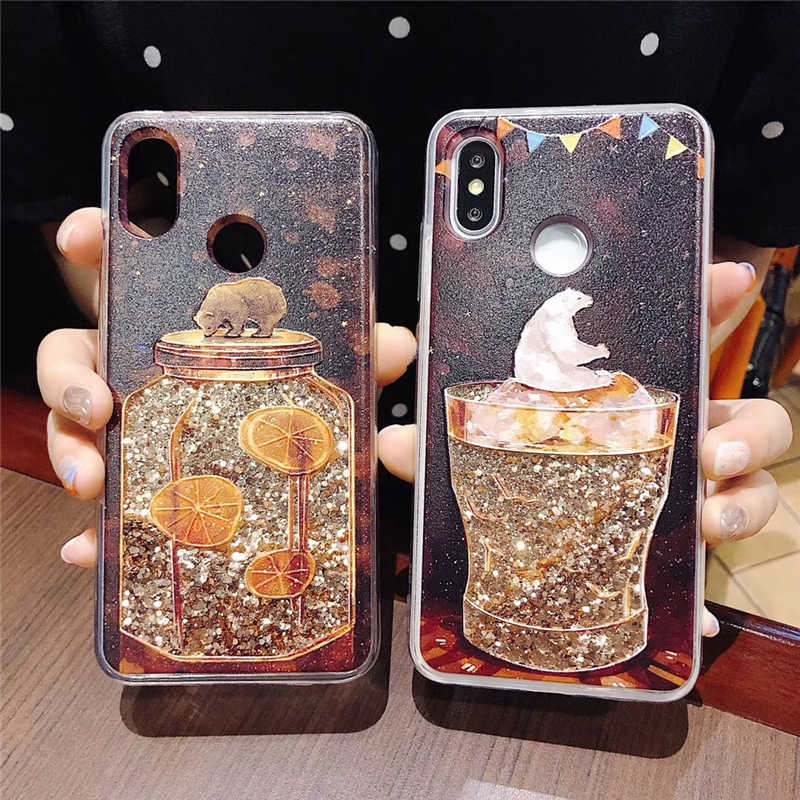 best service 9cb72 79b19 Liquid Water Case Unicorn Whale Camera Dynamic Quicksand Glitter Bling Soft  Silicone Cover for iPhone X 7 8 Plus 6 6S XS Max XR