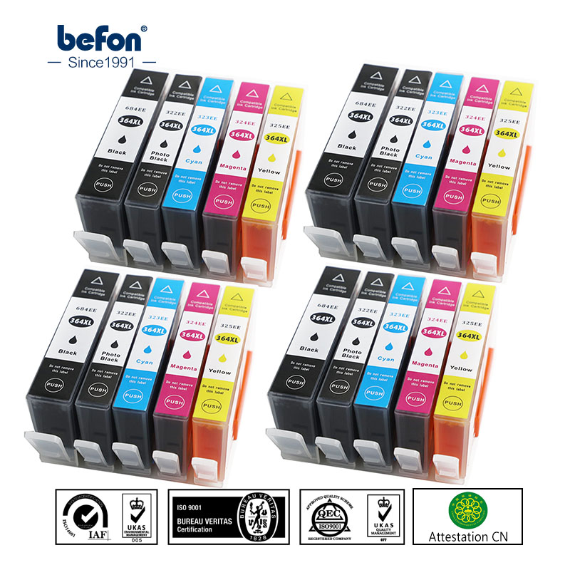befon X20 364XL Ink Cartridge Replacement for HP 364 HP364 684 322 Photo Black Deskjet 3070A 5510 6510 B209a C510a C309a Printer серьги aquamarine серьги