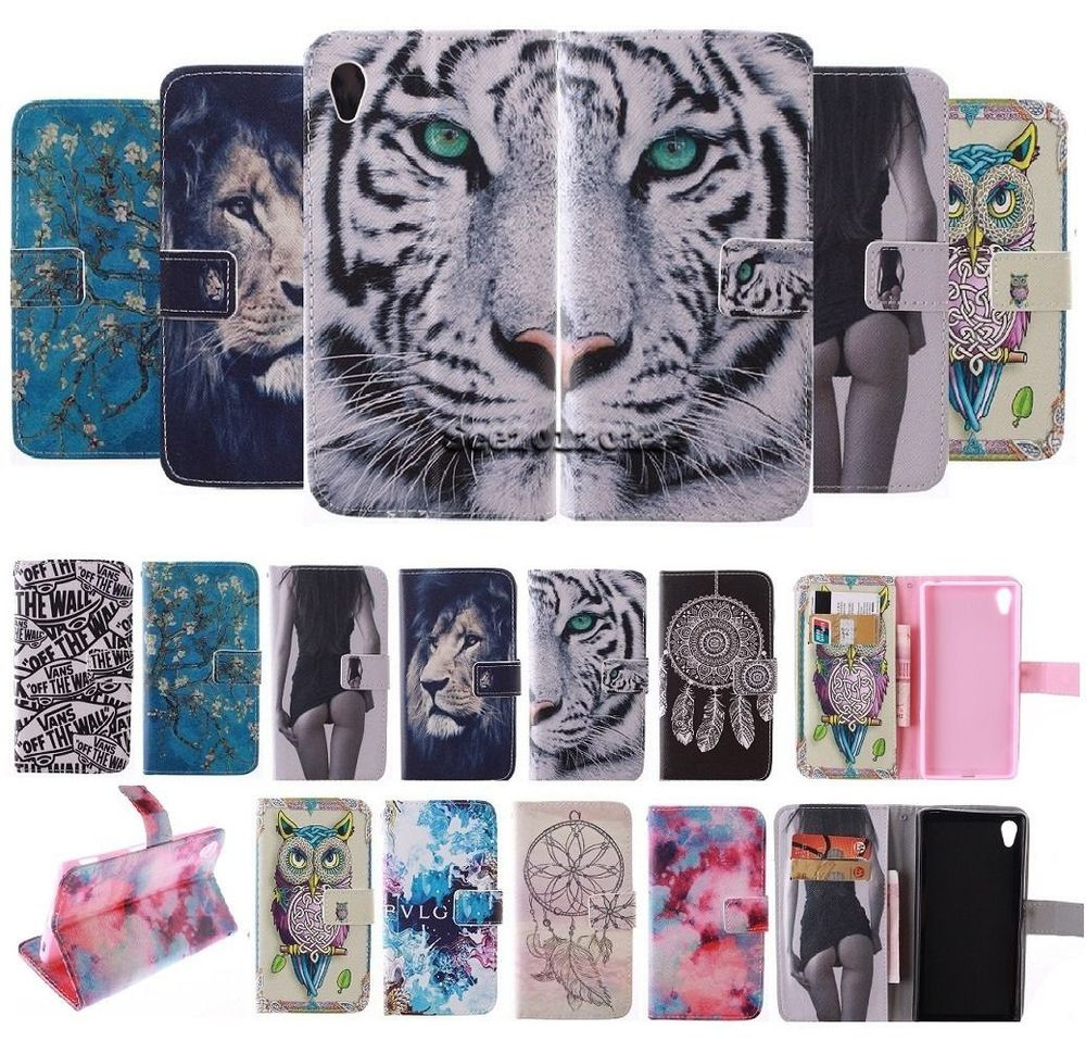 Fashion Covers owl and cat woman Sexy Girl PU leather case Protector Skin for Sony Xperia Z3 D6603 D6616 D6633 D6643 D6653 LH