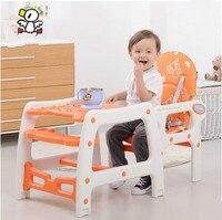 Многофункциональный Пластиковые дети едят стул младенческой ребенок стул стол для ужин