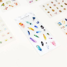 Fashion stickers creative plane decorative stickers hand account cute students school office supplies album scrapbook stickers