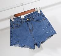 High Quality Denim Shorts 2018 Summer New Irregular Hole Stretch Denim Shorts Shorts Slim Students