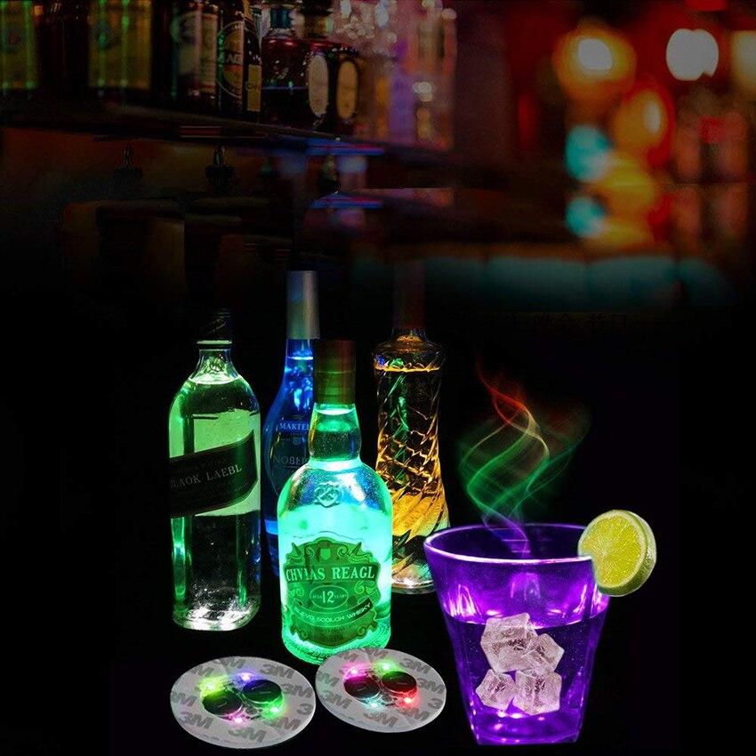Bouteille de vin en céramique de noël, autocollants pour bouteilles de vin en plastique avec la lumière de Glorifier, tapis de tasse, Bar de fête, Vase de noël, 10 pièces/lot