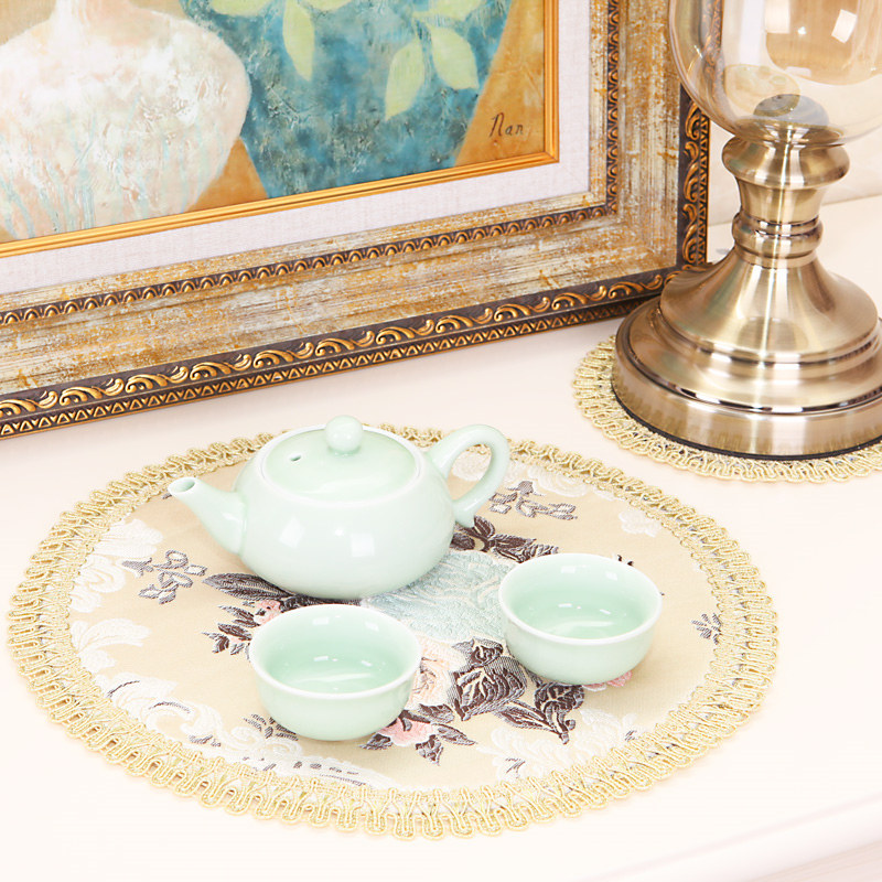 European Embroidery placemats Fashion place mat dining table mat Table placemats Wedding dining coaster cup mug drink doily