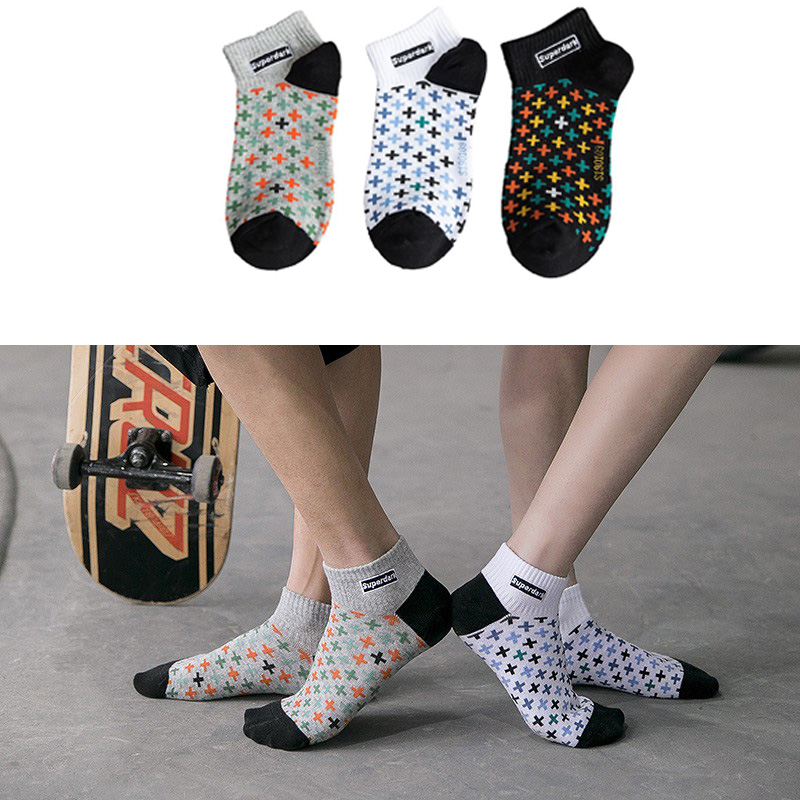 Men's Socks Casual Comfort Cotton Socks Cartoon Fashion Hip Hop Skateboard Boy Fake Laugh Funny Socks Men's Personality Fashion