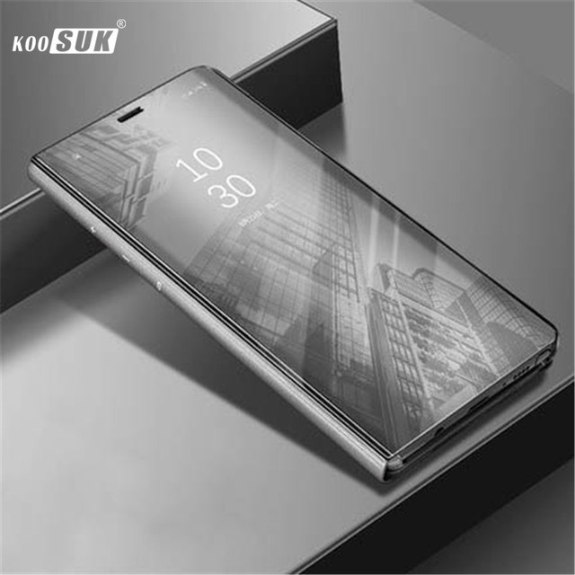 the latest 1cba7 b0a21 US $10.99 |For VIVO V9 Y85 Flip Case Coque KOOSUK Plating Mirror Clear  Smart Awaken View Stands Phone Cover Fundas For VIVO V9 Y85 capa-in Flip  Cases ...