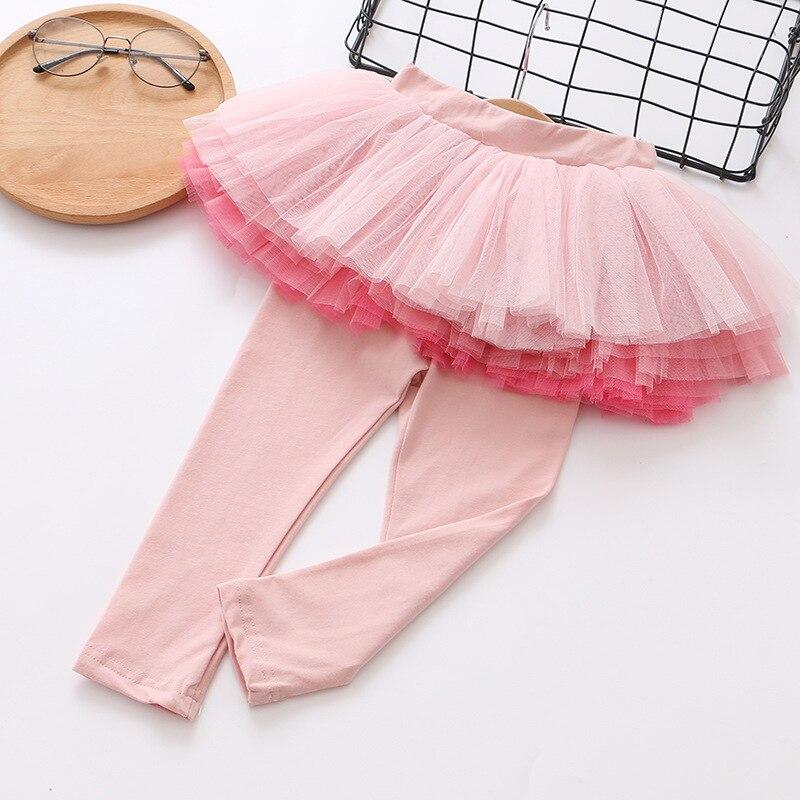 Детские леггинсы; леггинсы для девочек; юбка-пачка; брюки; юбка для малышей; леггинсы; детская одежда - Цвет: Бежевый