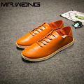 Alta Calidad de Los Hombres de Marca de Moda Para Hombre de cuero Genuino Zapatos de los planos Zapatos de Lona Respirables luz bajo Zapatillas de deporte zapatos Casuales BB-44