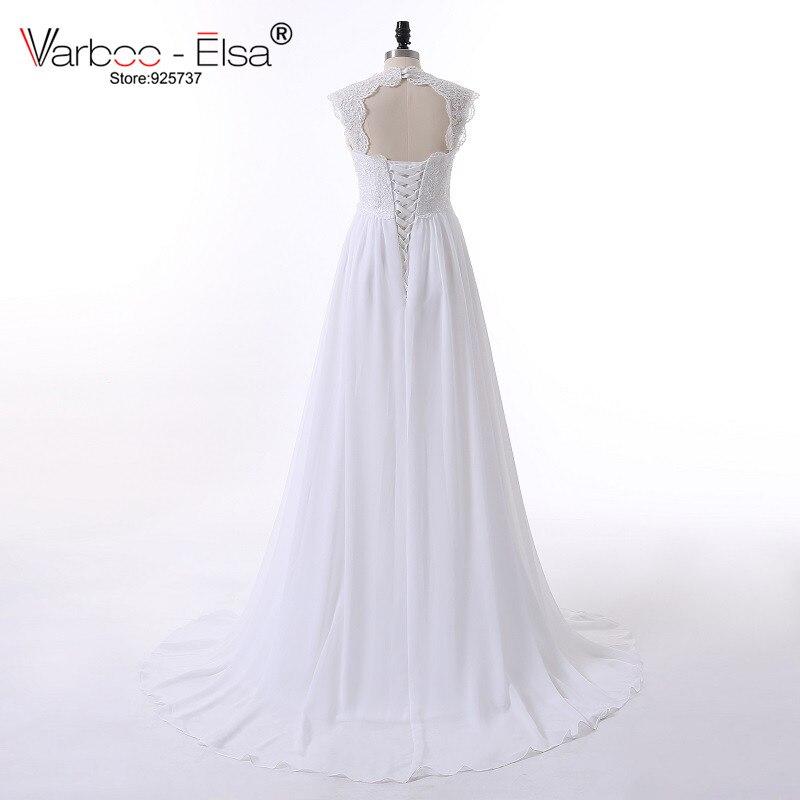 Aliexpress Com Buy Vintage Wedding Dress Beach Chiffon A Line