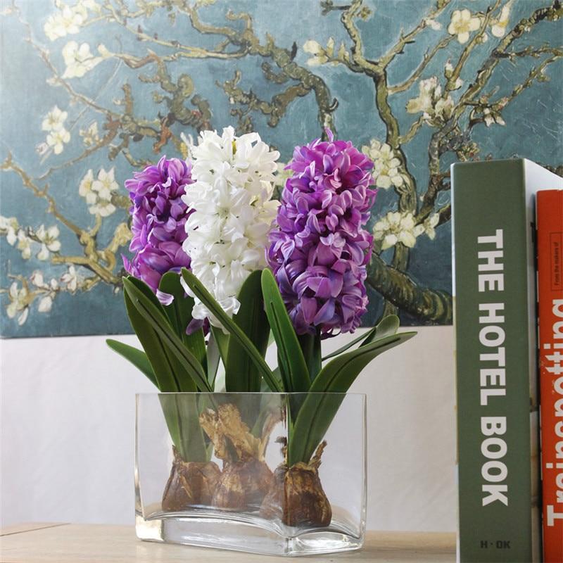 1PC 80CM Hyacinth Artificial Flowers Simulation Plants Wedding Party Home Decor