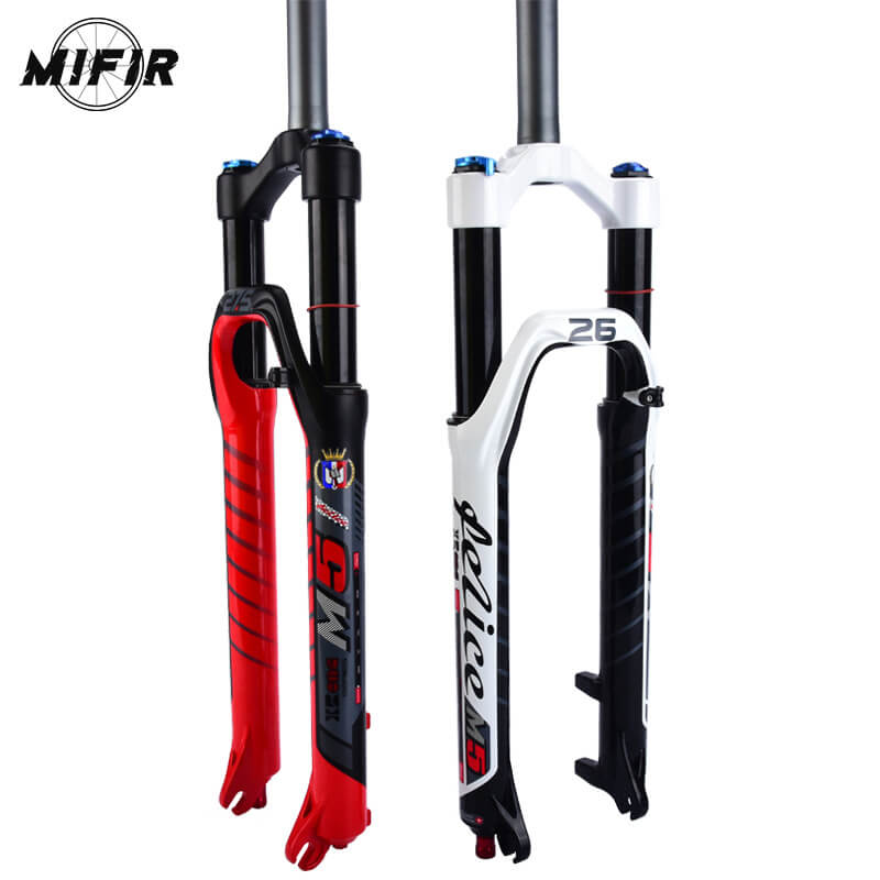2018 FELICE M50 MTB Mountain Bike Front Fork 26/27.5 Bicycle Front Fork Bike Air Suspension Fork Bicycle Accessory 2 Colors