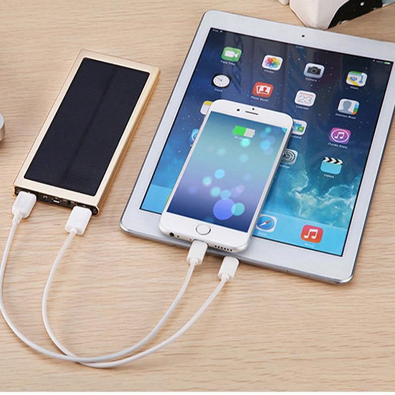 Banco de la energía solar 10000 mah powerbank batería externa rápido Dual USB Powerbank cargador de teléfono portátil energía pover banco