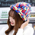 New Fashion Woman's Woolen Winter Hats Knitted Cap For Woman Skullies & Beanies  Mix Color Caps Warm Beanie CP020