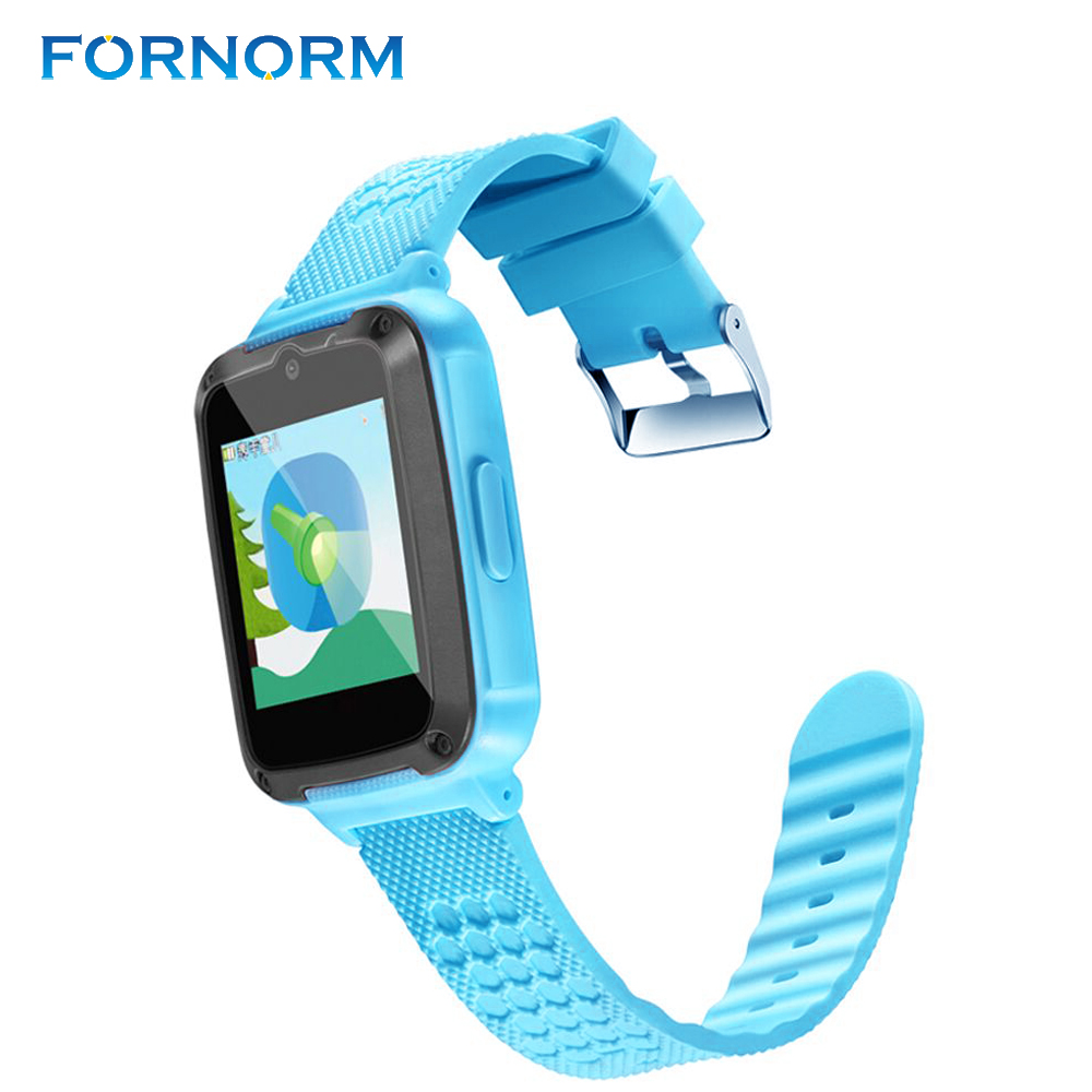 FORNORM touch screen Android childrens watch phone LBS locator locator SIM card call watch boy girl birthday gift