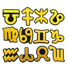 New 1 pcs Iron-on STYLE golden beautiful badges Constellation stickers for clothes D-045