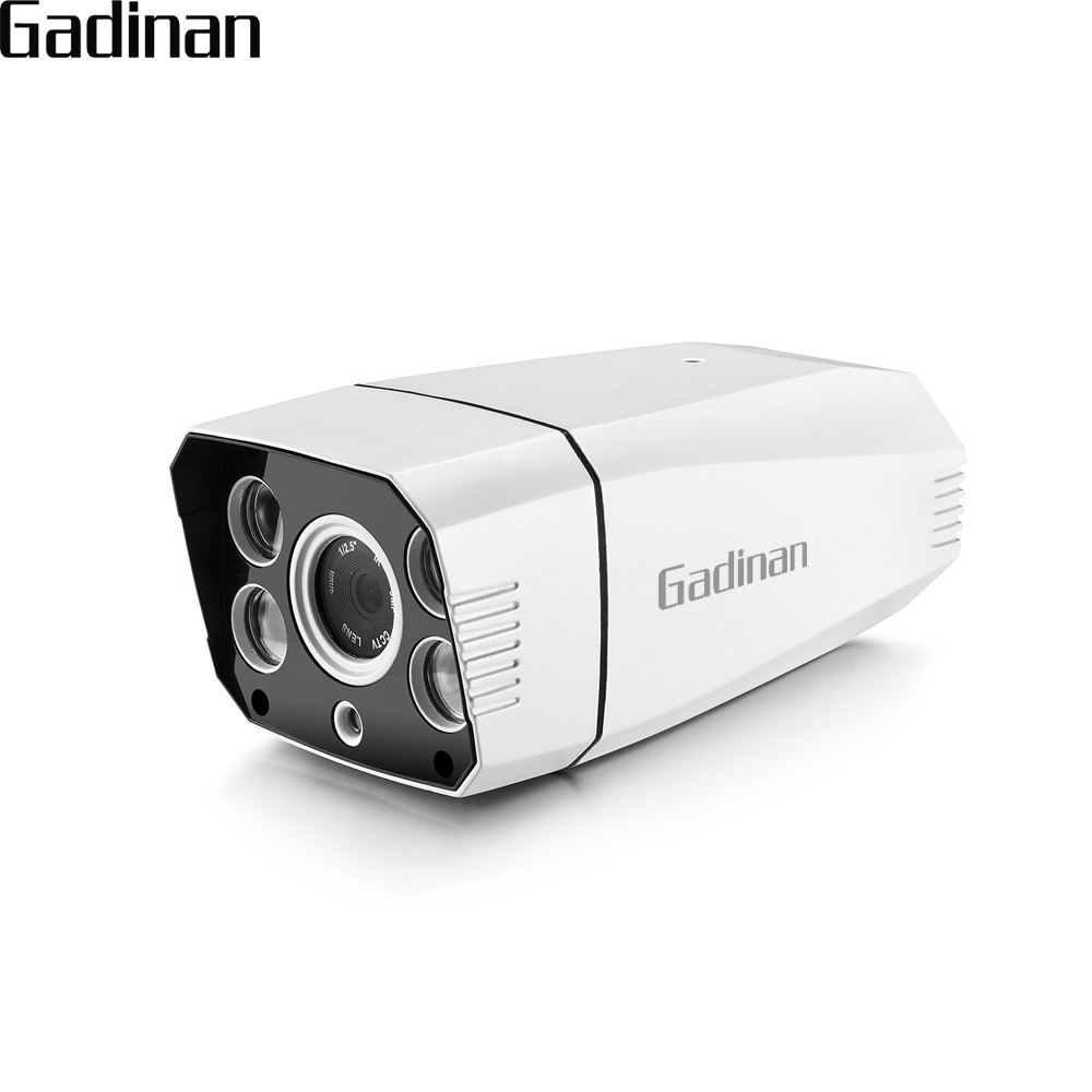 GADINAN H.265 4MP 25FPS Waterproof Outdoor CCTV Surveillance IP Camera IR LED ONVIF Email Alert Motion Detection POE Optional