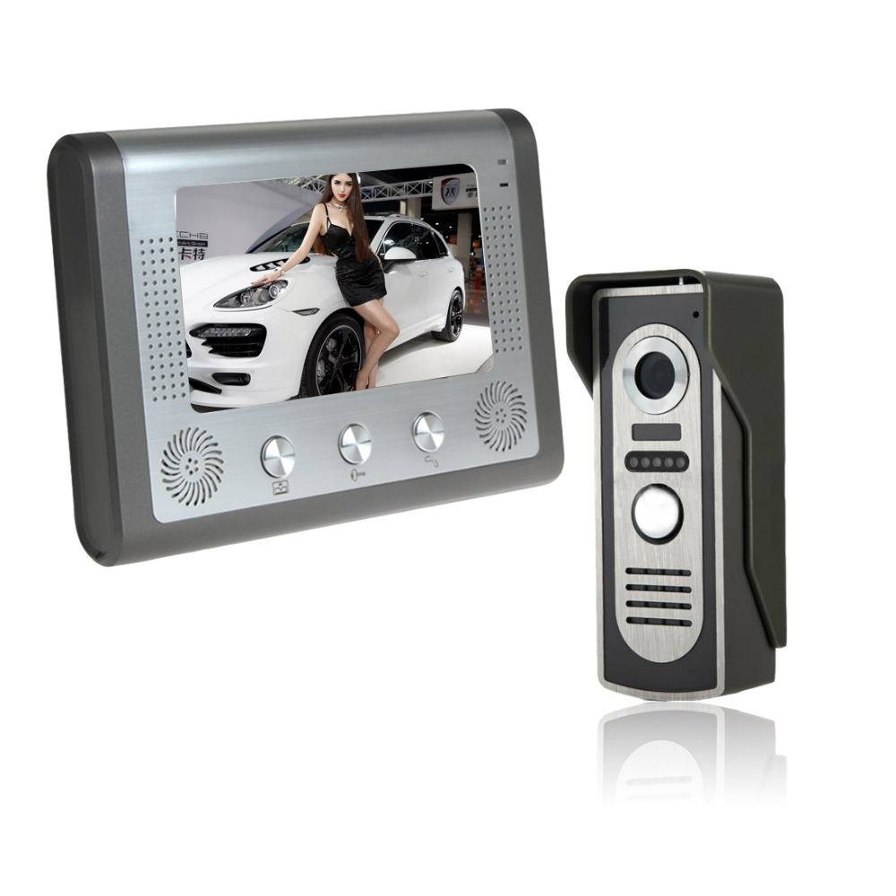 Color Video Door Phone Intercom Doorbell System Ir Camera Wireless Controlled Electronics Project Doorphone Monitor Speakerphone Electric Lock Control Function