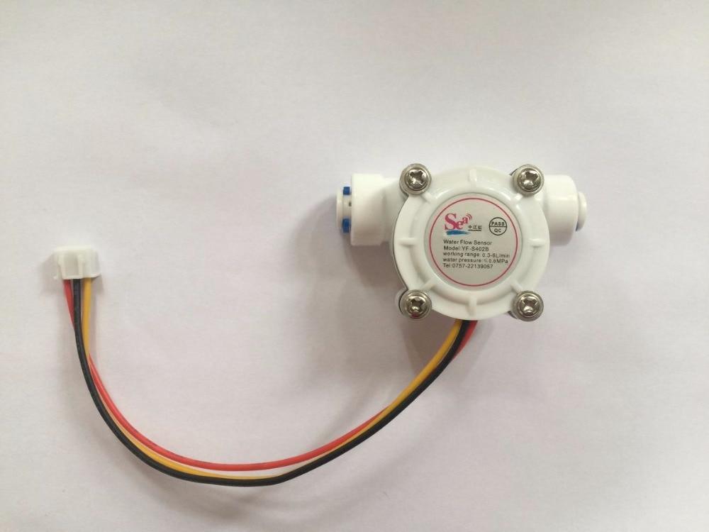 G1/4 PE Water Flow Sensor Hall Flow Sensor Switch Flow Meter Flowmeter Water Control Counter DN8 0.3-10L/min
