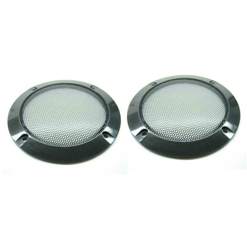 """2PCS 4/"""" Inch Plating Car Speaker Cover Tweeter Grille Waffle Mesk Grills Grille"""