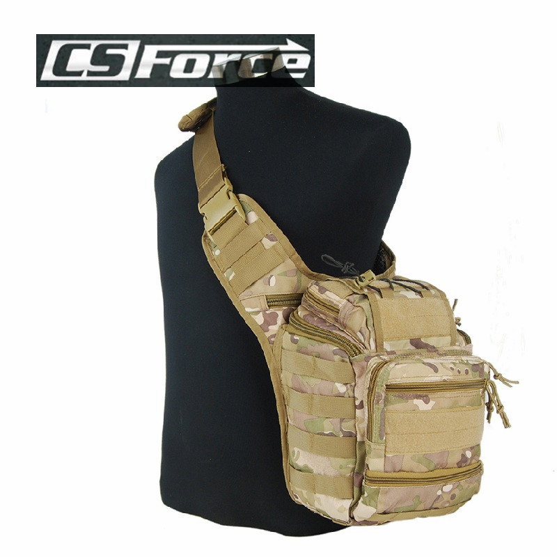 CS Force 1000D Nylon Molle Hunting Bags Sport Single Shoulder Bag Men Sport Camping Hiking Hunting Waist Bags Messenger Bag cs force 1000d nylon molle hunting bags sport single shoulder bag men sport camping hiking hunting waist bags messenger bag
